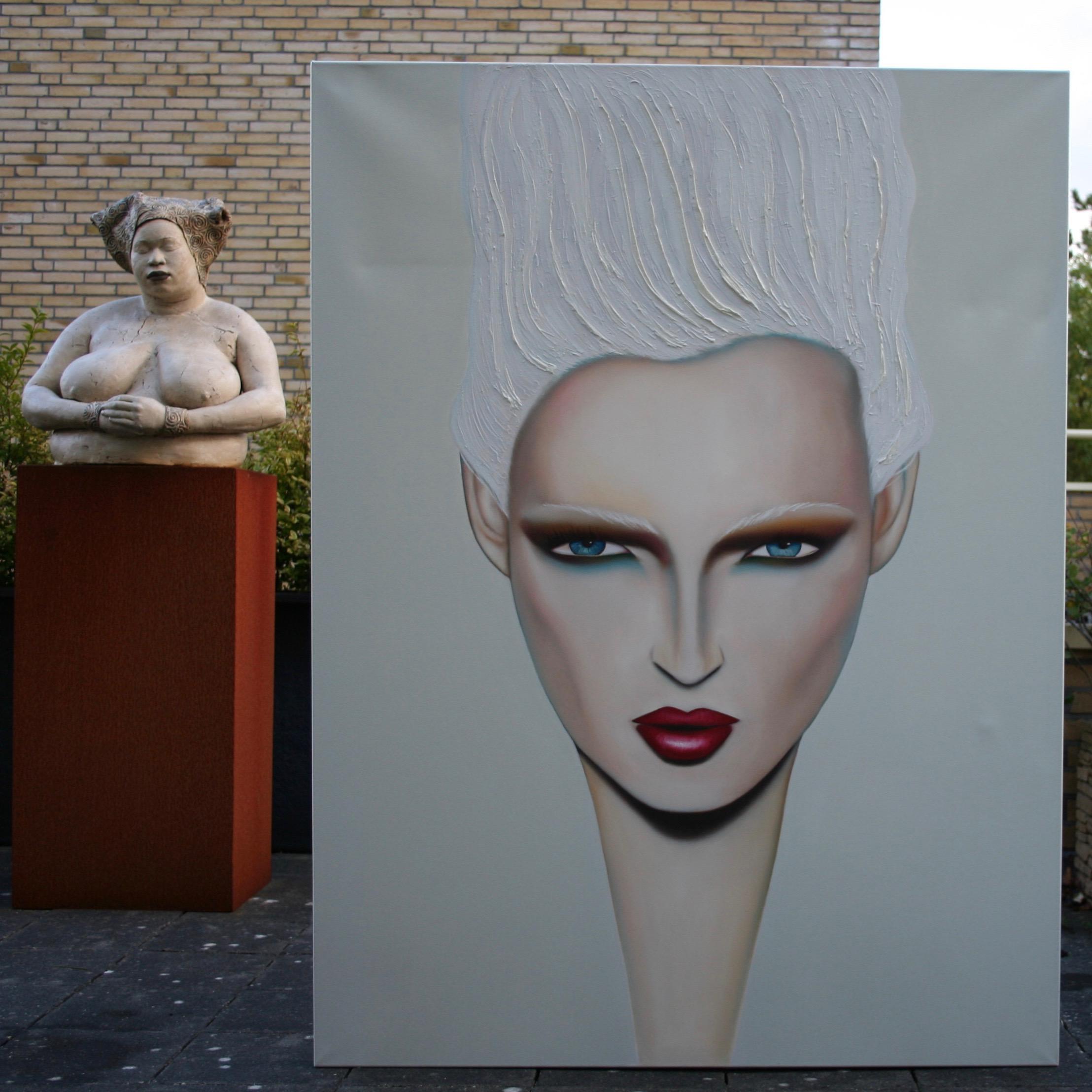 Flagrant portret, een groot schilderij